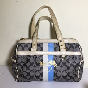Coach heritage blue stripe satchel #13190
